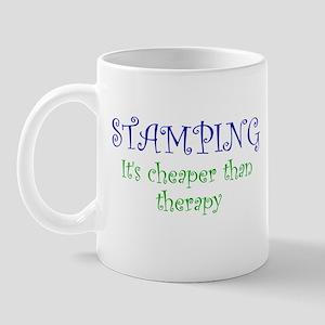 Stamping Cheaper Than Therapy Mug