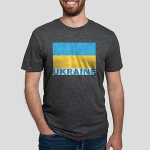 World Flag Ukraine White T-Shirt