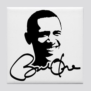 Obama Autographed Picture Tile Coaster