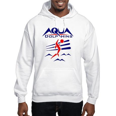 Aqua Dolphins Hooded Sweatshirt