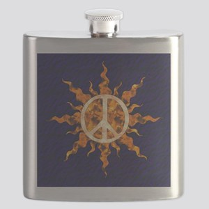 Flaming Peace Sun Flask