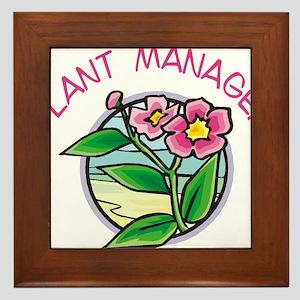 Plant Manager Framed Tile
