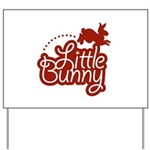 Little Bunny - Red Yard Sign