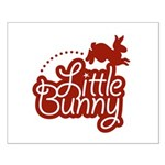 Little Bunny - Red Small Poster