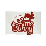 Little Bunny - Red Rectangle Magnet (10 pack)