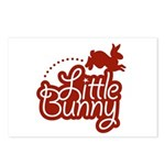 Little Bunny - Red Postcards (Package of 8)