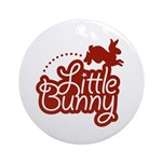 Little Bunny - Red Ornament (Round)