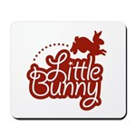 Little Bunny - Red Mousepad