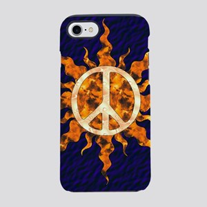 Flaming Peace Sun iPhone 8/7 Tough Case