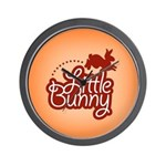 Little Bunny - Red Wall Clock