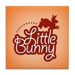 Little Bunny - Red Tile Coaster