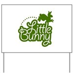 Little Bunny - Green Yard Sign