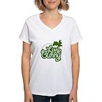 Little Bunny - Green Women's V-Neck T-Shirt