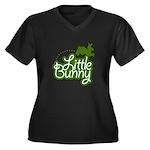 Little Bunny - Green Women's Plus Size V-Neck Dark