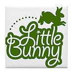 Little Bunny - Green Tile Coaster