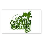 Little Bunny - Green Rectangle Sticker