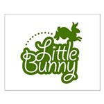 Little Bunny - Green Small Poster