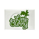 Little Bunny - Green Rectangle Magnet (10 pack)