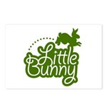Little Bunny - Green Postcards (Package of 8)