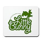 Little Bunny - Green Mousepad