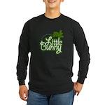 Little Bunny - Green Long Sleeve Dark T-Shirt