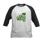 Little Bunny - Green Kids Baseball Jersey