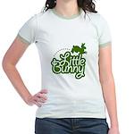 Little Bunny - Green Jr. Ringer T-Shirt