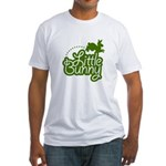 Little Bunny - Green Fitted T-Shirt