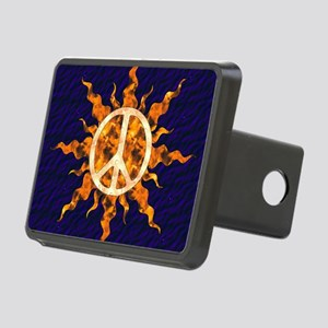 Flaming Peace Sun Rectangular Hitch Cover