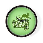 Little Bunny - Green Wall Clock