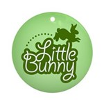 Little Bunny - Green Ornament (Round)