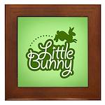 Little Bunny - Green Framed Tile