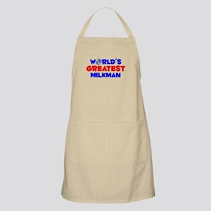 World's Greatest Milkman (A) BBQ Apron
