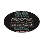 Great Dane 35x21 Oval Wall Decal