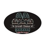 Great Dane Oval Car Magnet