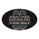 Great Dane Sticker (Oval 10 pk)