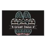 Great Dane Sticker (Rectangle 50 pk)