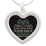 Great Dane Silver Heart Necklace