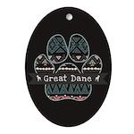 Great Dane Oval Ornament
