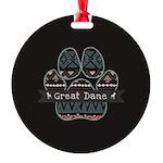 Great Dane Round Ornament