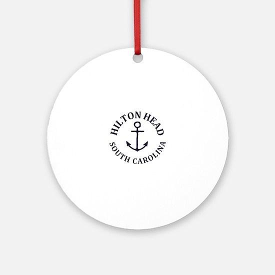 Unique Hilton head island Round Ornament