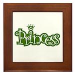 Princess - Green Framed Tile