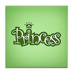 Princess - Green Tile Coaster
