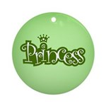 Princess - Green Ornament (Round)