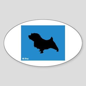 Norfolk iPet Oval Sticker