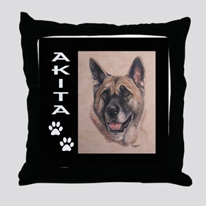 Zen the Akita Throw Pillow