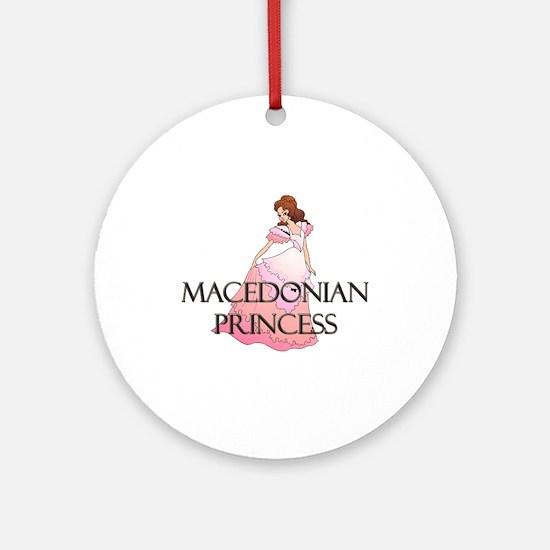 Macedonian Princess Ornament (Round)