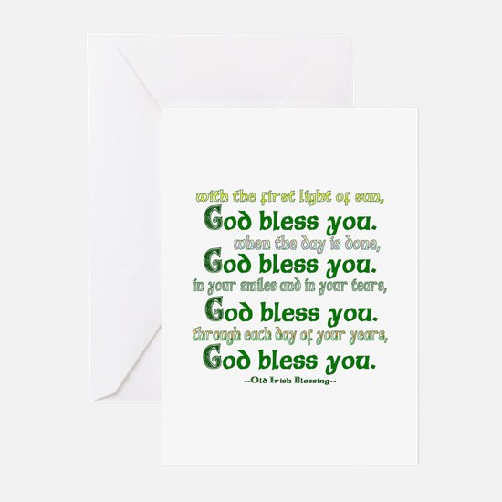 Irish Blessing--God Bless You Greeting Cards (Pack