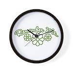 Remember Me - Green Wall Clock