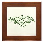 Remember Me - Green Framed Tile